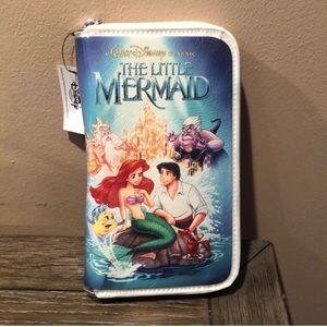 The Little Mermaid VHS mini clutch NWT